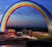 Олимпийский городок под Аркой дружбы народов